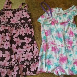girl size 5 dress & romper